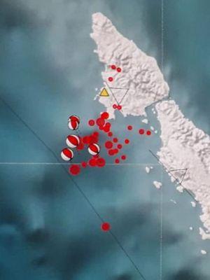 Peta gempa Mantawai 02 Februari 2019