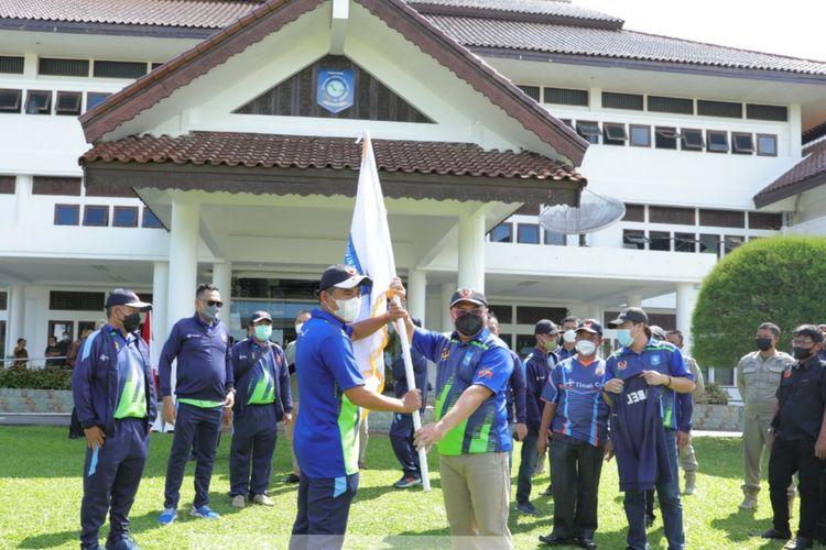 Pelepasan atlet Babel ke PON Papua, Jumat (24/9/2021).