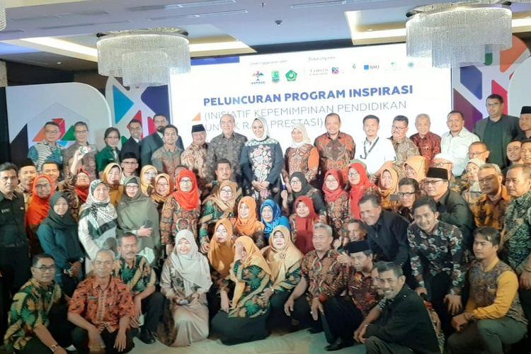 Peluncuran program Inisiatif Kepemimpinan Pendidikan untuk Raih Prestasi (Inspirasi) di Kabupaten Karawang, Jawa Barat, pada Kamis (18/7/2019) di Resinda Hotel Karawang.