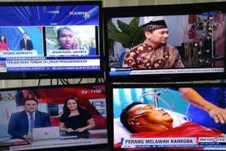 Beberapa stasiun televisi di Indonesia yang fokus pada berita, Senin (1/22/2016).