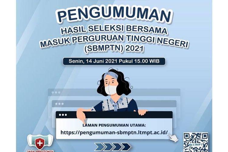 Poster pengumuman SBMPTN 2021