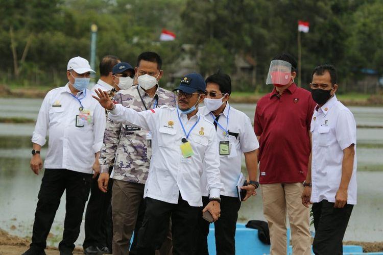 Menteri Pertanian (Mentan) saat Yasin Limpo melakukan kunjungan kerja.