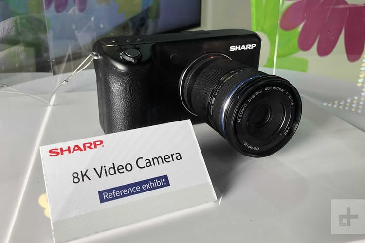 Ilustrasi Sharp 8K Video Camera