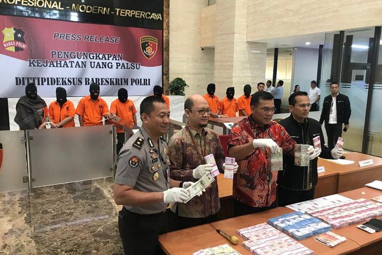 Direktur Tipideksus Bareskrim Brigjen (Pol) Daniel Tahi Monang di Gedung Bareskrim, Jakarta Selatan, Selasa (18/2/2020).