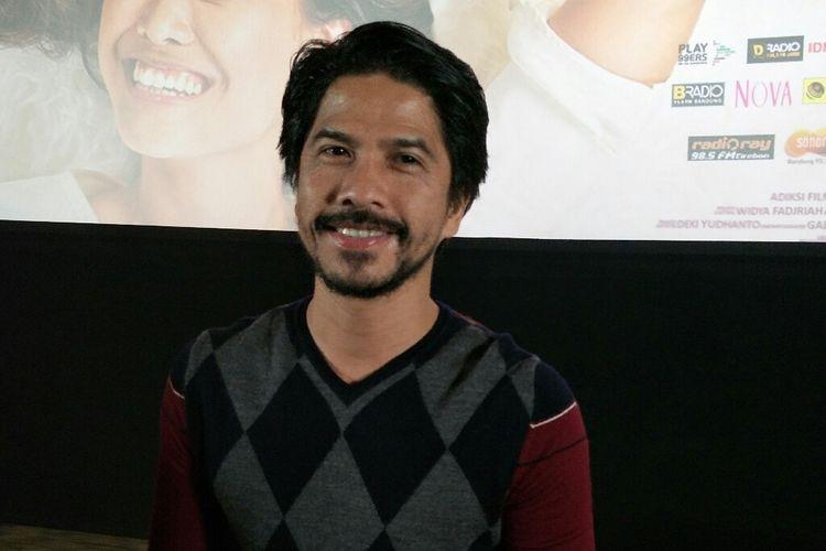 Artis peran dan pemusik Ariyo Wahab saat ditemui dalam jumpa pers film