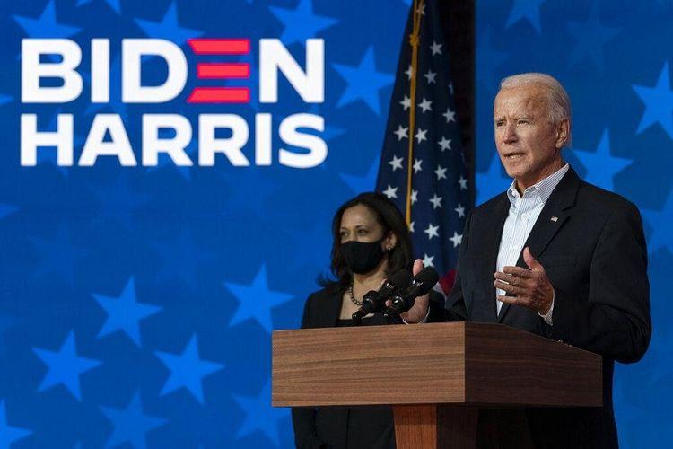 Presiden terpilih Amerika Serikat Joe Biden dan Wakil Presiden terpilih Kamala Harris
