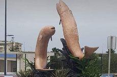 Dianggap Mirip Penis, 2 Patung Ikan di Maroko Ini Dihancurkan