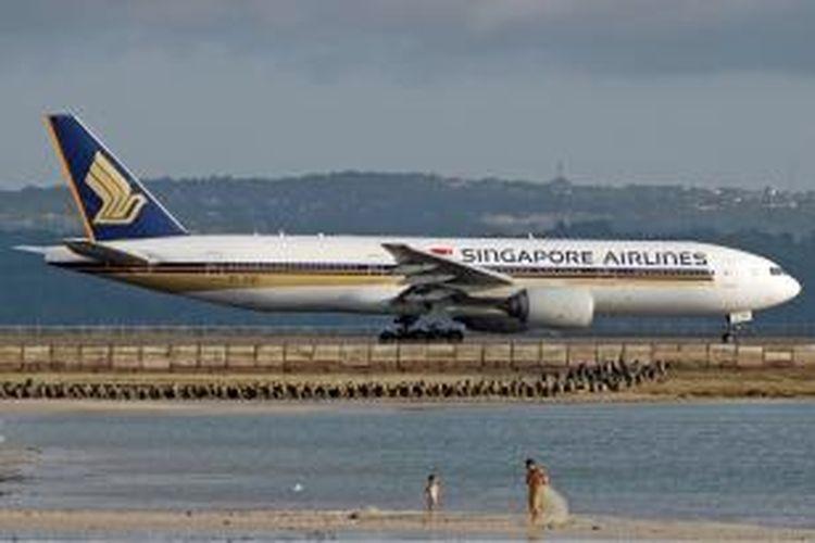 Pesawat Boeing 777-200 ER milik Singapore Airlines