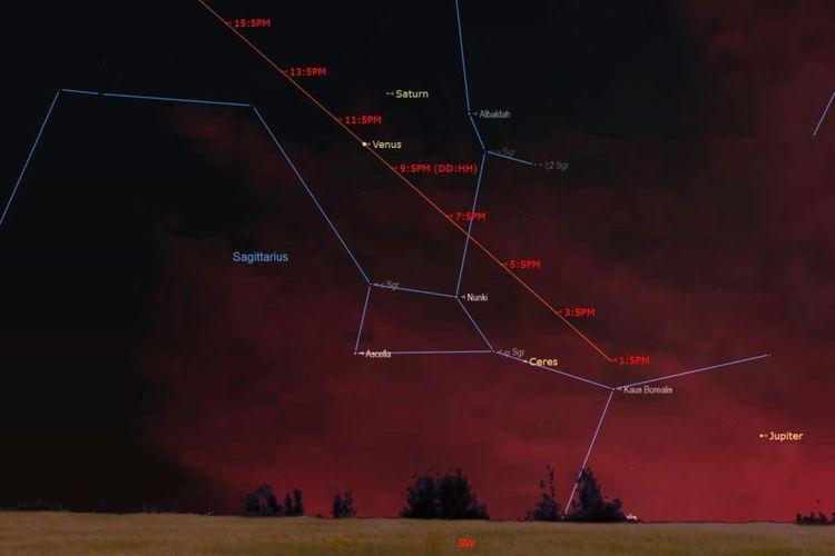 Venus akan berdampingan dengan Saturnus setelah Maghrib, Rabu (11 Desember 2019).