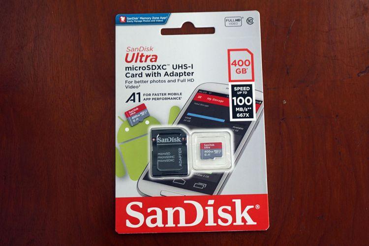 Sandisk memperkenalkan kartu penyimpan data microSD berkapasitas 400 GB di Jakarta, Selasa (19/9/2017).