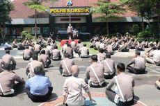 Cegah Corona, 300 Anggota Polres Gresik Berjemur Sambil Dengar Tausiah