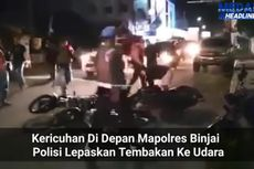 Video Viral Massa Blokade Jalan di Depan Mapolres Binjai, 3 Orang Diamankan
