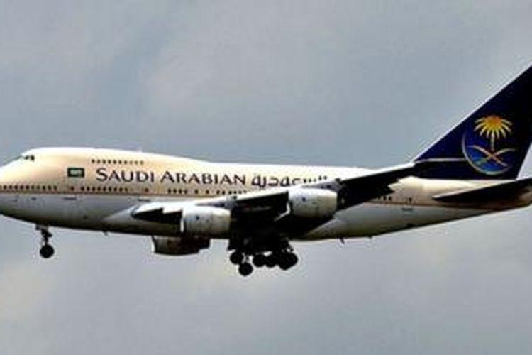 Sebuah pesawat terbang milik Saudi Arabian Airlines
