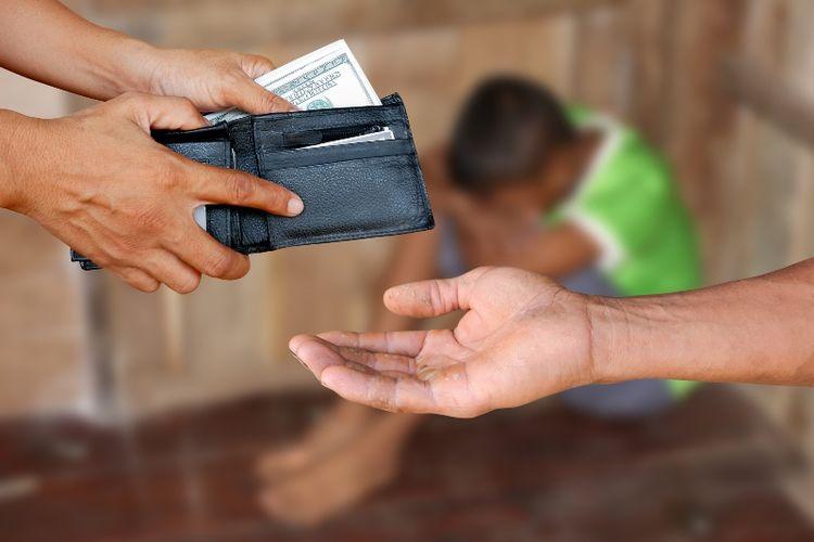 Ilustrasi perdagangan anak-anak.