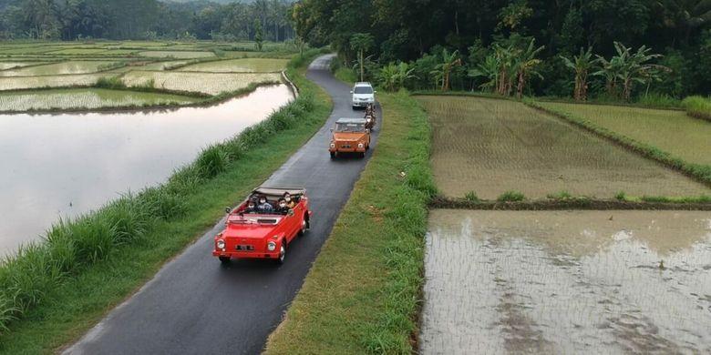 Hmmm, Serunya Naik VW di Wulenpari dan Nikmati Kawasan Perdesaan Gunungkidul