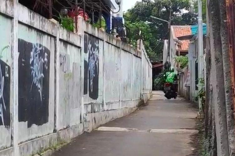 Lokasi tindak pelecehan seksual terhadap Y (18), siswi SMK oleh pengendara beratribuk ojek online di kawasan Pasar Rebo, Jakarta Timur, (Rabu (11/3/2020).