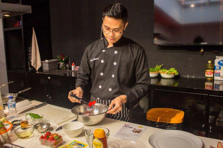 Muhammad Reza Mahani seorang Healthy Cook Chef di dalam acara Bincang Shopee