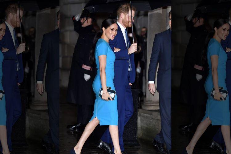 Pangeran Harry dan Meghan menghadiri acara Endeavour Fund Awards 2020 pada Kamis (5/3).