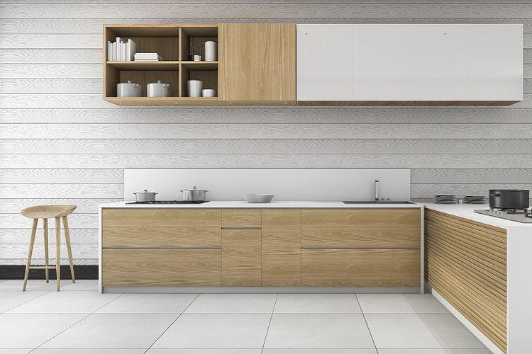 Ilustrasi dapur tipe L