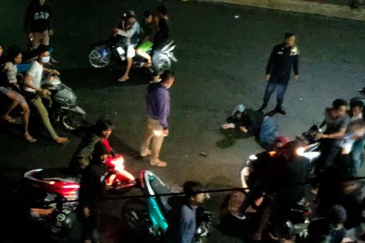 Lokasi kejadian kecelakaan di Jalan Merdeka, simpang jalan Dr. Wahidin Kelurahan Dwikora, Kecamatan Siantar Barat, Rabu (20/1/2021) sekitar pukul 00.30 WIB.