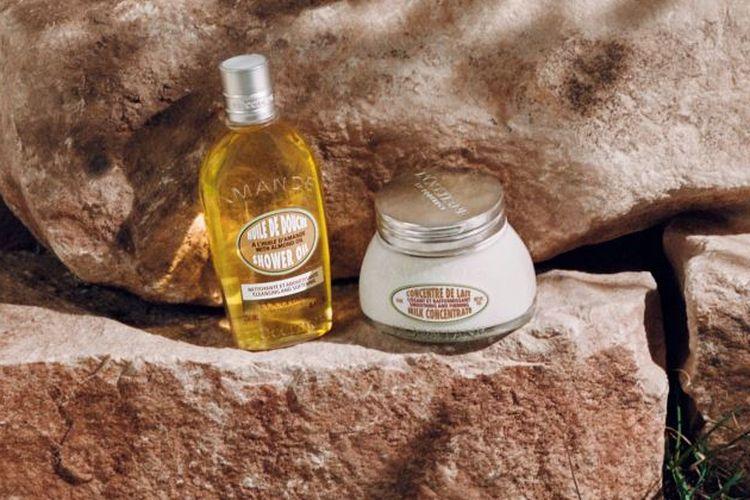 Almond shower oil dan almond milk concentrate dari L'Occitane
