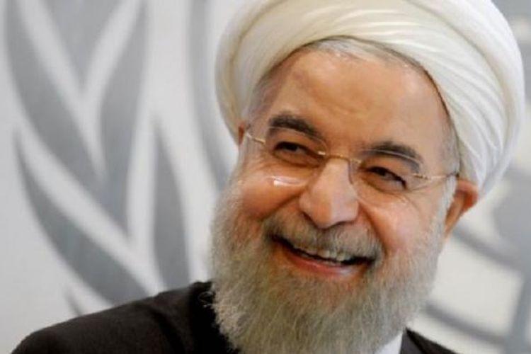 Presiden Iran Hassan Rouhani menghadiri sidang umum PBB di New York, Sabtu (26/9/2015).