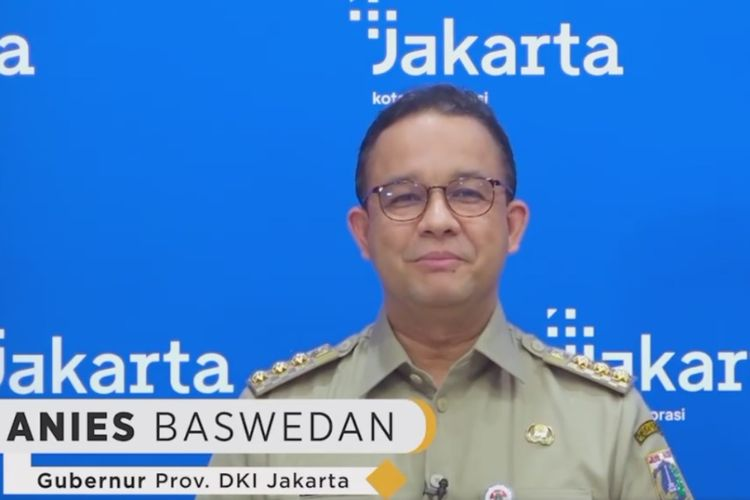 Gubernur DKI Jakarta Anies Baswedan mengucapkan selamat hari raya Nyepi Tahun Baru Saka 1943 melalui video, Minggu (14/3/2021).