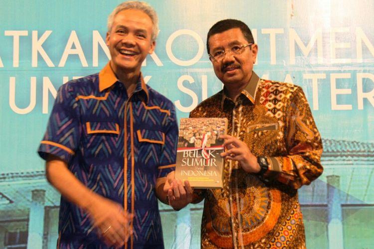 Gubernur Jawa Tengah  Ganjar Pranowo (kiri) bersama Gubernur Sumatera Utara Erry Nuradi (kanan), Minggu (30/7/2017).