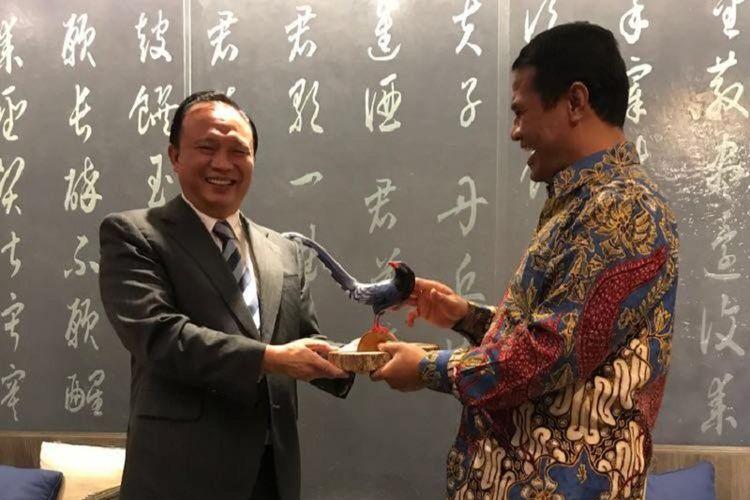 Menteri Pertanian Andi Amran Sulaiman bertemu Menteri Pertanian Taiwan Tsung-Hsien Lin, di Taiwan, Selasa (9/10/2018).