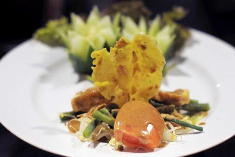 Gado-gado, salah satu makanan khas Indonesia yang banyak diminati tamu di Restoran Agung, Club Med Bali.