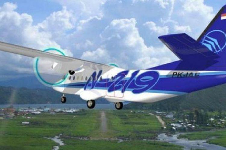 Pesawat N-219 buatan PT Dirgantara Indonesia.