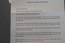 Surat Terima Kasih Anies untuk Para Tenaga Medis di Tengah Pandemi Covid-19