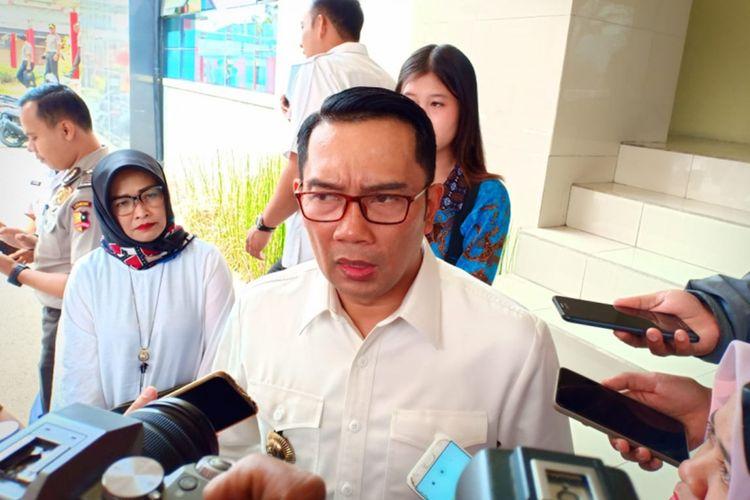 Gubernur Jawa Barat Ridwan Kamil saat ditemui usai mengisi kuliah di Sekolah Pimpinan Polri, Lembang, Kabupaten Bandung Barat, Rabu (4/9/2019).