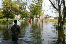 2 Orang Tewas Terseret Arus Saat Menjaring Ikan di Luapan Banjir Kali Lamong