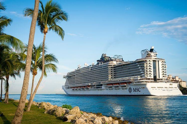 Ilustrasi kapal pesiar MSC Cruises.