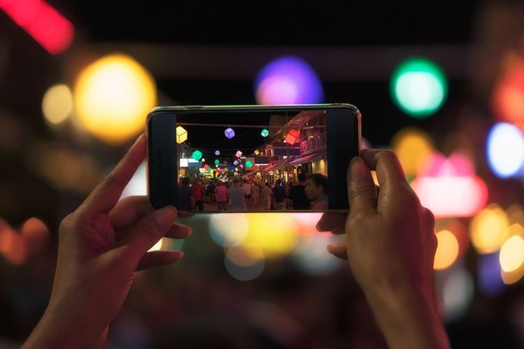 Ilustrasi fotografi ponsel.