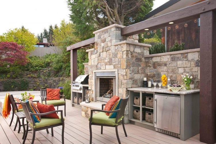 Ilustrasi dapur outdoor.