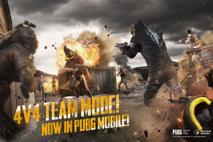 Ilustrasi mode Team Deathmatch di PUBG Mobile