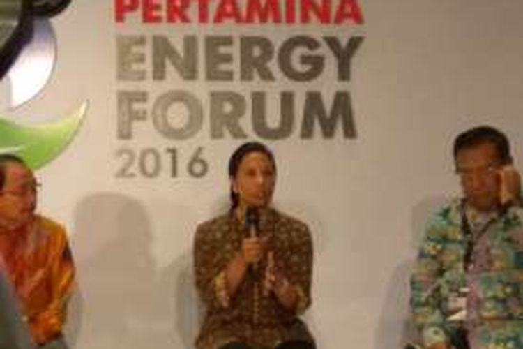 Menteri Badan Usaha Milik Negara (BUMN) Rini Soemarno di Jakarta, Selasa (13/12/2016).