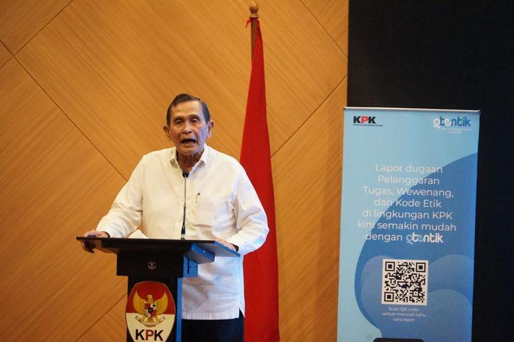 "Ketua Dewan Pengawas (Dewas) Komisi Pemberantasan Korupsi (KPK) Tumpak H Panggabean dalam sambutannya di peluncuran aplikasi ""Otentik"" Kamis (24/6/2021)."