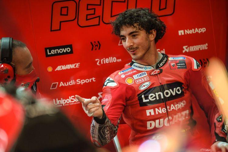 Francesco Pecco Bagnaia, pebalap baru <a href='https://manado.tribunnews.com/tag/ducati' title='Ducati'>Ducati</a> untuk musim Kejuaraan Dunia <a href='https://manado.tribunnews.com/tag/motogp-2021' title='MotoGP2021'>MotoGP2021</a>.