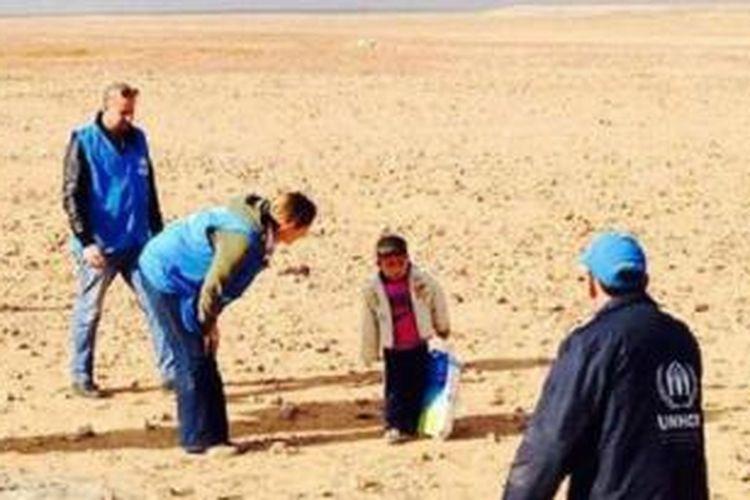 Marwan ditemukan di gurun oleh pekerja UNHCR