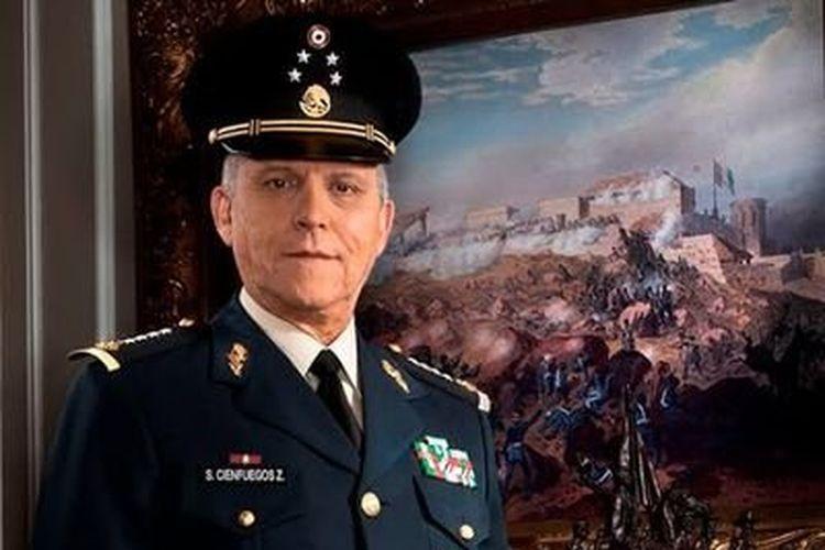 Foto Mantan Menteri Pertahanan Meksiko Salvador Cienfuegos