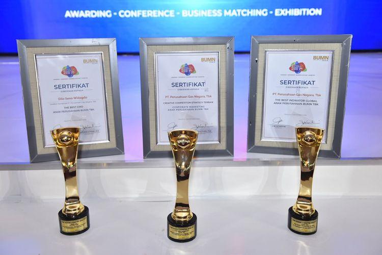 Penghargaan PGN dalam Ajang BUMN Branding and Marketing Award 2019.