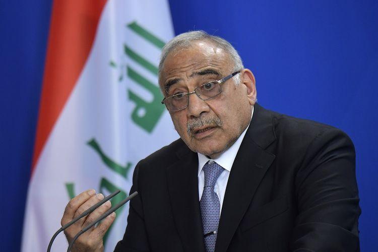 Perdana Menteri Irak Adel Abdel Mahdi.