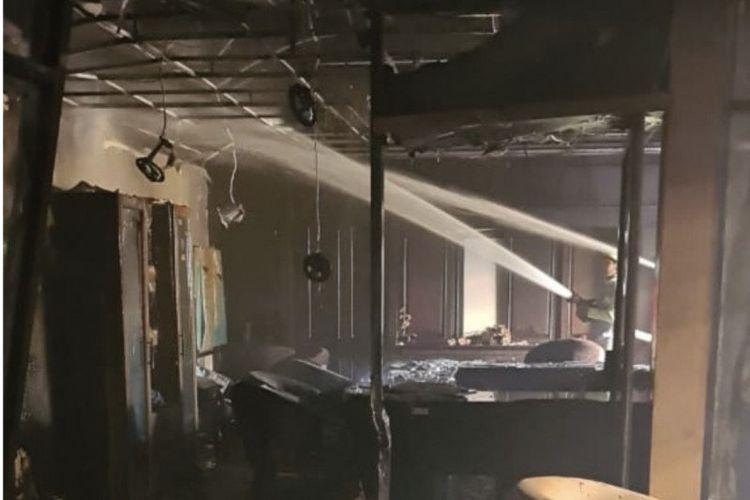 Ruang fraksi PPP DPRD Kaltim ludes dilalap api, pada peristiwa kebakaran Rabu (28/10/2020) pagi.