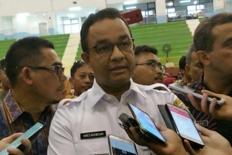 Gubernur DKI Jakarta Anies Baswedan di GOR Ciracas, Jakarta Timur, Kamis (28/2/2019).