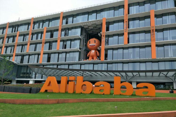 Gedung Utama Alibaba Campus di distrik Xixi, Hangzhou, China, Senin (16/4/2018)