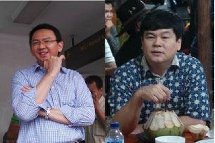 Wakil Gubernur DKI Jakarta, Basuki Tjahaja Purnama (kiri), dan adiknya, Bupati Belitung Timur, Basuri Tjahaja Purnama.