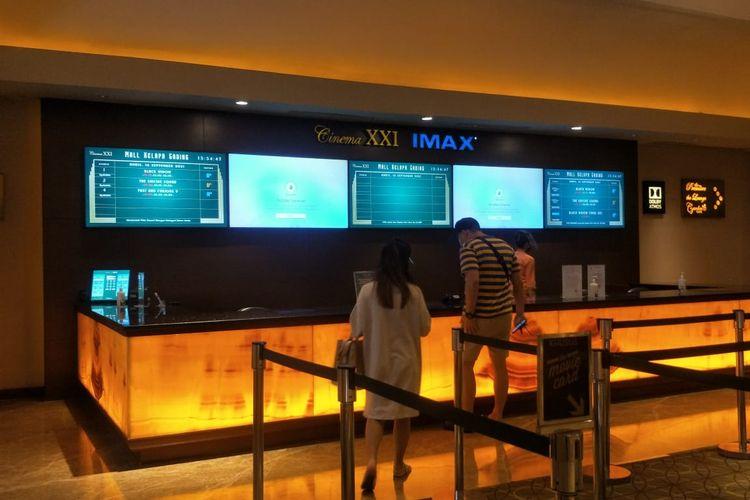 Suasana Bioskop XXI yang berada di Mall Kelapa Gading, Jakarta Utara sudah kembali beroperasi, Kamis (16/9/2021).